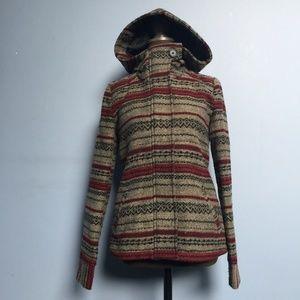 Jack Boho Stripe Wool-Blend  Hooded Jacket